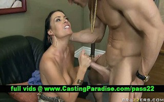 vanilla deville brunette hair milf receives