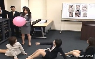 aroused japanese gals flashing pants in public