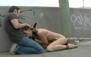 office clothed bitch stripped in public and