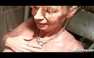breasty cougar drilled in the shower