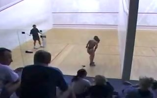 large marangos loses it all in undress racquetball