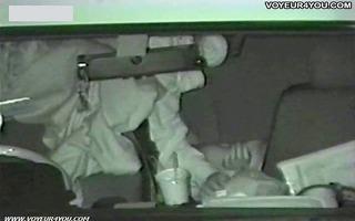 secret inside of black car