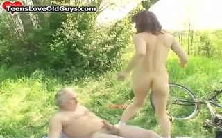 favourable grand-dad acquires drilled by this cute