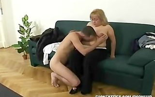 hawt fat excited wench freezes - repairman helps