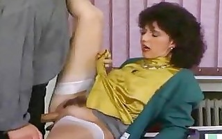 aged secretary acquires drilled