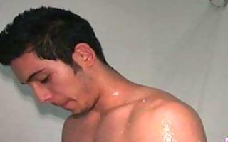 homosexual masturbation inside the shower