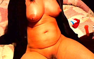 housewife plays with herself