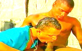darksome ghetto homosexual lover on anal fucking