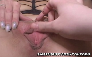 older non-professional wife gives head with cum