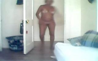 mother i undressed on a hidden webcam