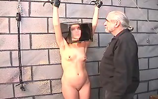 cute dark haired cutie acquires restrained and