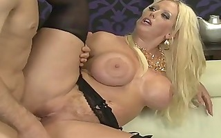 breasty blonde mom rides a large jock