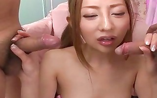 asian playgirl toying and blowing