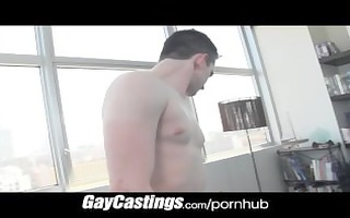 gaycastings flexable cheerleader widens his gap