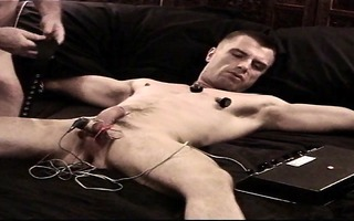 cbt electro stim chap as i jack him and turn up
