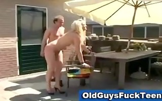 old lads hot younger chick