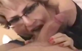 facial for breasty older with glasses