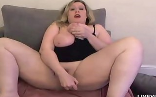 sexy a-hole golden-haired jackie pounds her obese