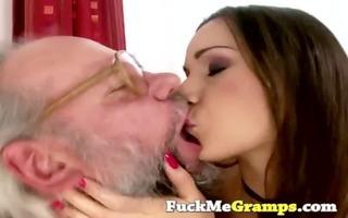 unshaved grandpapa enjoys playfull legal age