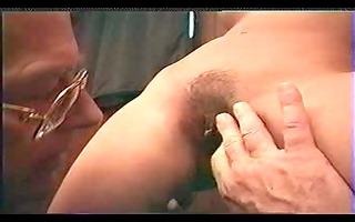 juvenile hotty &; grand-dad cum on fur pie