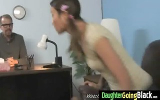 young daughter with worthwhile butt drilled by a