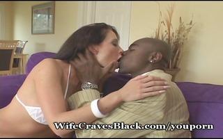 enjoyable hottie goes black