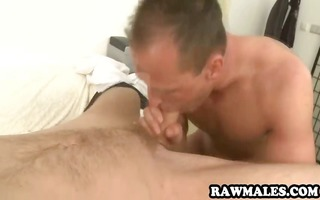 dilettante hunk sucks dong and acquires fucked