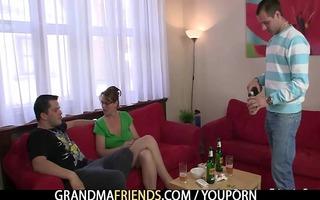 anal loving mamma jumps on jock