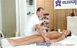 massage rooms breathtaking russian teen has