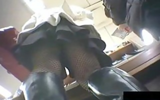 upskirt view at the department store