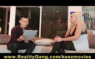 cheating big-tit blond wife whore has pussy