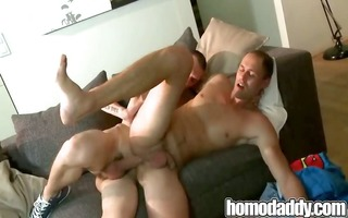 raw pecker play on homosexual dad