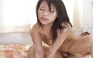 hawt milf riku shiina can to engage in group fuck