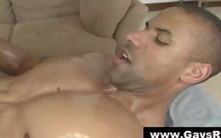 musuclar lad gives dick massage