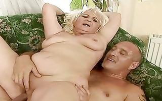 nasty chunky grandma having sex with old chap