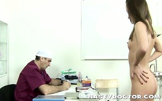 old doc does a thorough wet crack exam