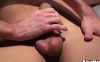 homosexual masseuse convinces him to fuck