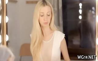 breasty hottie positions on web camera