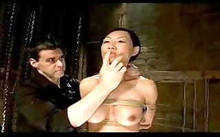 oriental girl disciplined as villein bondaged