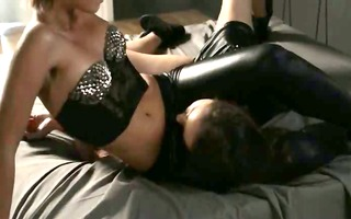 gals in latex sexing with thong on