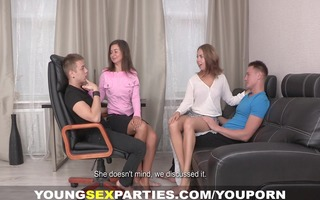 youthful sex parties - girlfriends drilled like