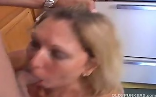 pretty mature lady is hungry for penis