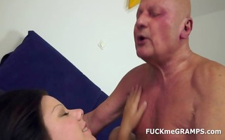 lascivious older man bonks curvy angel
