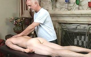 older gay dad gives juvenile attractive chap a