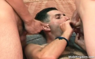 sexy three-some is having joy and concupiscent boy