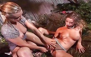 sluty brunette hair lesbian babes licking every