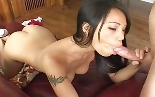 bootylicious tattooed thai brunette with worthy