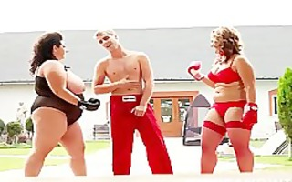 concupiscent big beautiful woman boxers abuse and
