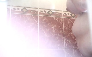 my shaggy big beautiful woman taking a shower.
