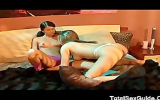 hawt lesbian babes play their belt on